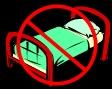 No bed