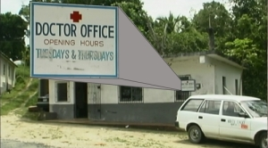 Seen while on a film shoot in Jamaica. A Medical Clinic open only on Tuesdays and Thursdays.