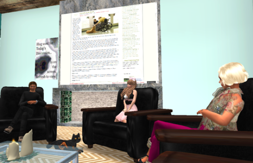 Niki, my virtual cat, was the center of the discussion.