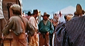 My friend, John Daws (green shirt),in the recent remake of True Grit.